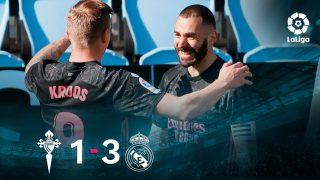 El Real Madrid se impuso por 1-3 al Celta.
