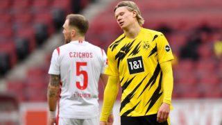 Haaland anotó dos goles contra el Colonia. (AFP)
