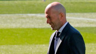 Zidane, durante el Celta-Real Madrid (EFE).