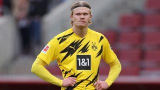 Haaland, durante un partido con el Borussia Dortmund (Getty)