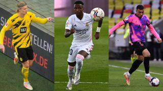 Haaland, Mbappé y Vinicius, entre los jugadores más valorados del mundo.