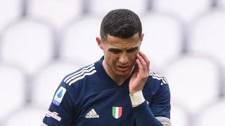 Cristiano Ronaldo, durante un partido de la Juventus (AFP).
