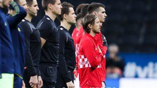 Luka Modric, en un partido con Croacia. (Getty)