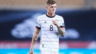 Toni Kroos durante un partido con la selección de Alemania. (Getty)