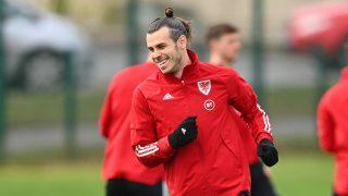 Gareth Bale, durante un entrenamiento con Gales (Getty).