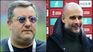 Mino Raiola y Pep Guardiola.