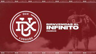 Nuevo escudo del Logroño femenino tras la fusión con Team DUX Gaming.