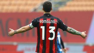 Romagnoli, en un partido con el Milan. (Getty)