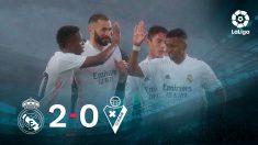 El Real Madrid se impuso 2-0 al Eibar.