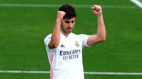 Marco Asensio celebra el gol. (EFE)