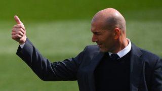 Zidane, durante un partido de Real Madrid. (AFP)