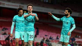 Diogo Jota celebra un gol. (Getty)