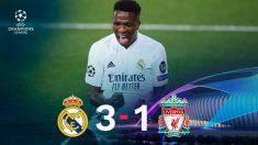 El Real Madrid ganó 3-1 al Liverpool con un Vinicius estelar.