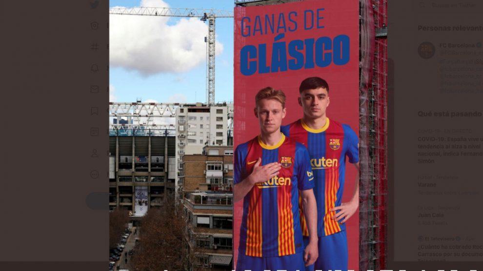 La publicación del Barcelona en las redes sociales.