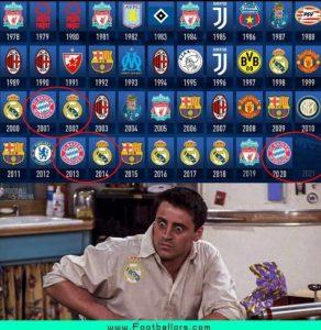 El meme que vaticina la victoria del Real Madrid en la Champions