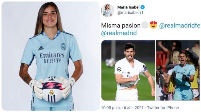 Misa Rodríguez, portera del Real Madrid, acosada con comentarios machistas por celebrar el gol de Asensio
