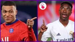 Vinicius y Mbappé. (AFP y EFE)