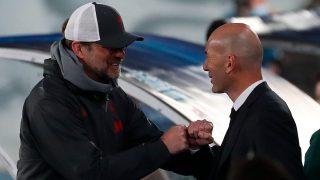 Zidane saluda a Klopp en Valdebebas. (EFE)