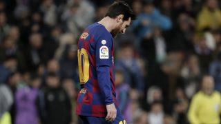 Messi, en el último Clásico disputado en el Santiago Bernabéu (Getty)