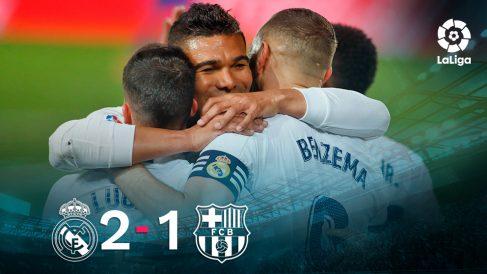 El Real Madrid se impuso 2-1 al Barcelona en el Clásico.