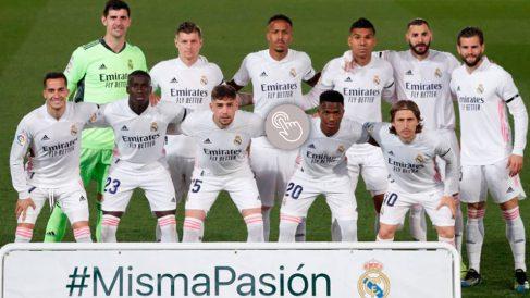 Los jugadores del Real Madrid contra el Barcelona.