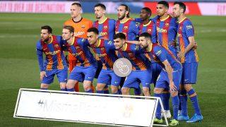 Los jugadores del Barcelona en el Clásico contra el Madrid