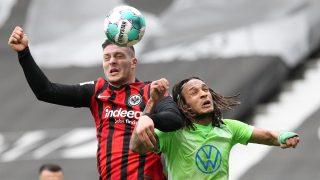 Jovic lideró el triunfo ante el Wolfsburgo. (AFP)