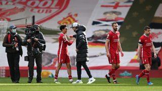 El Liverpool venció al Aston Villa en el descuento. (Getty)