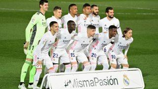 El Real Madrid, antes del Clásico. (AFP)