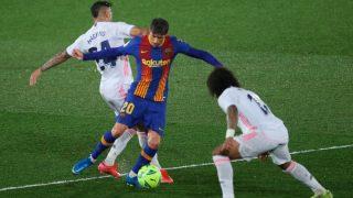 Sergi Roberto, durante el partido. (EFE)