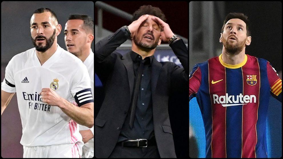 Real Madrid, Barcelona y Atlético se juegan la Liga.
