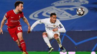 Lucas Vázquez, en el Real Madrid-Liverpool. (AFP)