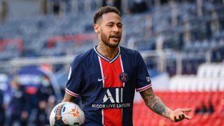 Neymar durante un partido con el PSG. (AFP)