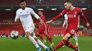 Casemiro destacó en Anfield. (AFP)