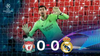 El Real Madrid resistió en Anfield y empató 0-0 ante el Liverpool.