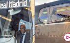 El autobús del Real Madrid, apedreado camino de Anfield Road