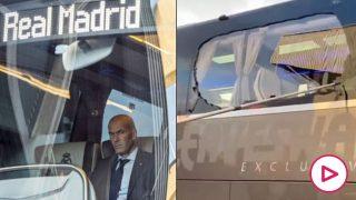 El autobús del Real Madrid, apedreado camino de Anfield Road.