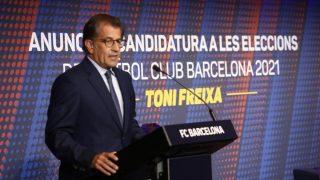 Toni Freixa, en un acto de la campaña a la presidencia del Barça.