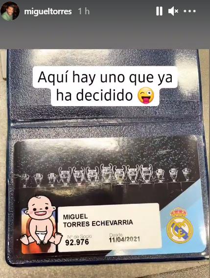 Miguel Torres Echevarría ya es socio madridista