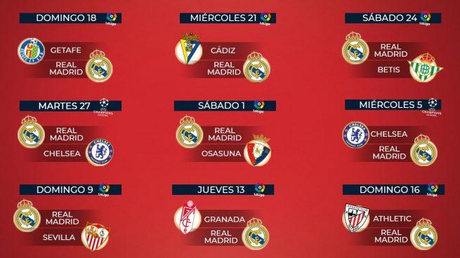 El asfixiante calendario que amenaza al Real Madrid