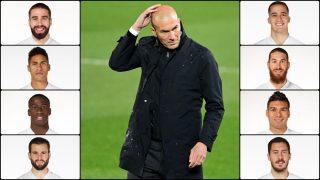 Zidane tiene 8 bajas ante el Getafe.