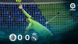 Getafe y Real Madrid empataron a cero en el Coliseum.