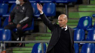 Zidane, durante un partido contra el Getafe.