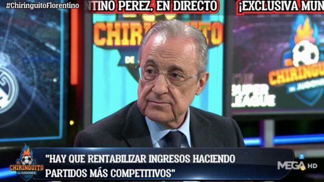 Florentino Pérez en El Chiringuito: así te hemos contado la entrevista al presidente de la Superliga, en directo