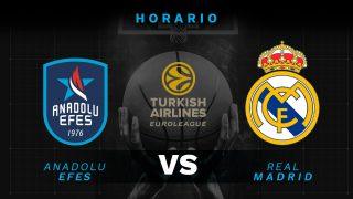 Andadolu Efes – Real Madrid: hora y cómo ver por televisión el partido de la Euroliga.