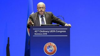 Jesper Moller, presidente de la federación danesa y miembro del Comité Ejecutivo de la UEFA (Getty).