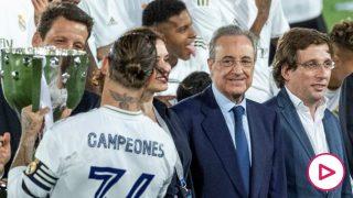 Florentino avisa a Sergio Ramos: «Le quiero mucho, pero tenemos que ser realistas».