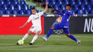 Antonio Blanco, en su debut contra el Getafe.