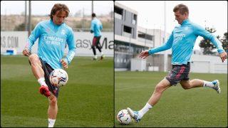 Luka Modric y Toni Kroos.