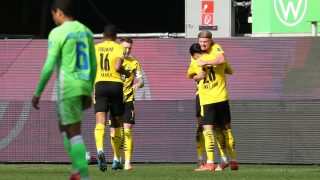 Haaland salvó los muebles del Dortmund. (Getty)